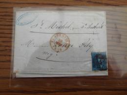 N° 2 (non Margé) Sur Lettre Oblitérée FLORENVILLE (barres 41) Pour ST HUBERT En 1850 - 1849-1850 Medallions (3/5)