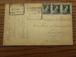 N° 480 (3X) (soit 2,25FR) Sur Carte Vue De Spa En EXPRES Oblitéré SPA BAGAGES (2 Cachets Différents) En 1939 - Altri