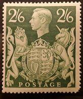 GB 1942, King George VI , GVI , 2/ 6 Vert Jaune,  Neuf * MH  BTB - 1902-1951 (Re)