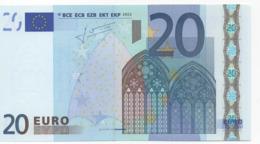 "20 EURO  ""H""  Slovenia     Firma Trichet     G 013 I3   /  FDS - UNC - 20 Euro"