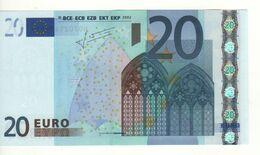 "20 EURO  ""H""  Slovenia     Firma Trichet     E 004 B1   /  FDS - UNC - 20 Euro"