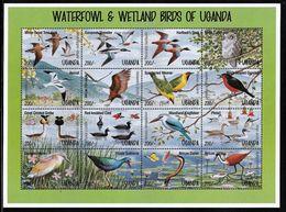 1995 Uganda Waterfowl And Wetland Birds Minisheet And Souvenir Sheets (** / MNH / UMM) - Birds