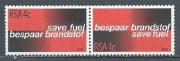 Afrique Du Sud YT N°459/460 Economies D'énergie (Paire Se-tenant) Neuf ** - South Africa (1961-...)