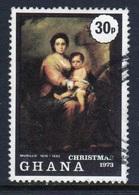 Ghana 1973 Christmas Single 30p Fine Used Commemorative Stamp. - Ghana (1957-...)
