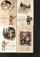 LOT DE 6 CPA ITALIE 1921, 1922, 1923, 1928 - LES ENFANTS CHANTENT ET JOUENT D'INSTRUMENTS DE MUSIQUE - - 5 - 99 Postales