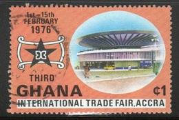 Ghana 1976  Single 1c Trade Fair Fine Used Commemorative Stamp. - Ghana (1957-...)