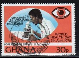 Ghana 1976  Single 30p World Health Day Fine Used Commemorative Stamp. - Ghana (1957-...)