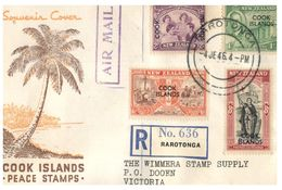 (F 3) FDC Cover - New Zealand (overprinted Cook Islands) 19463 - FDC