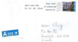 (F 3) Belgium To Australia - Stamp On Cover - Bruxelles ATOMIUM & MANNEKEN PIS - Belgium