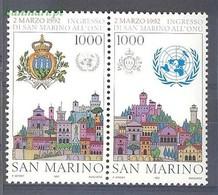 San Marino 1992 Mi 1514-1515 MNH ( ZE2 SMRpar1514-1515 ) - Postzegels