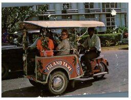 (F 4) (with Fiji Stamp) - Tonga Island Island Taxi (motorbike) - Tonga