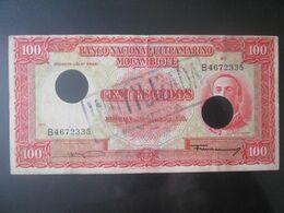Mozambique/Mocambique 100 Escudos 1958 Canceled Banknote - Mozambique