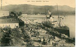 2A- CORSE - AJACCIO - Les Quais.         Collection. J.Moretti,Corte - Ajaccio