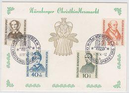 Bundesrepublik 1955 Wohlfahrt Komplett Auf Sonderkarte Mit Christkindlesmarkt SST - Covers