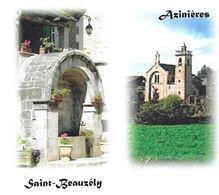 SAINT BEAUZELY, AZINIERES AVEYRON ( FONTAINE, PRIEURE DE COMBEROUMAL ) PAP ENTIER POSTAL, VOIR LES SCANNERS - Abbazie E Monasteri