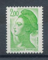 2188a Liberté 2f Vert-jaune (une Bande De Phosphore) - Ungebraucht
