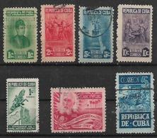 1948 Cuba Arte Esculturas-monumento-congreso De La Letra-azucar 7v - Gebraucht