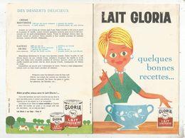 Publicité , 8 Pages , LAIT GLORIA ,quelques Bonnes Recettes , 2 Scans, Frais Fr 1.65 E - Werbung