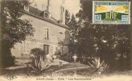39 - RANS - VILLA  LES MARRONNIERS - TIMBRE EXPOSITION PARIS 1925 52 ( 2 Cotés) - Other Municipalities