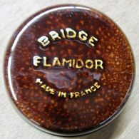 CENDRIER BRIDGE FLAMIDOR MADE IN FRANCE ( MARRON ) - Sonstige