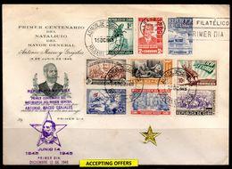 39104 Cuba 1945 Gral Antonio Maceo Issue. FDC - FDC