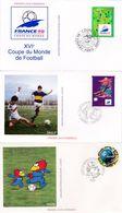 Lot De 12 Enveloppes XVIème Coupe Du Monde De Football France 98 - 1995 à 1998 - 12 Timbres Différents - 12 CAD 1er Jour - FDC