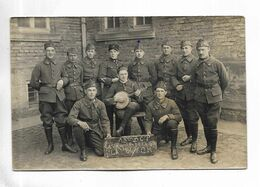 MILITARIA - Carte-photo D' Un Groupe De Militaires Du 18° Bataillon De Chasseurs à Pied. Ecrite De MORHANGE ( 57 ) - Regimientos
