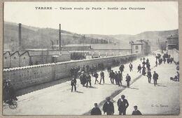 CP TARARE Usines Route De Paris. Sortie Des Ouvriers - Tarare