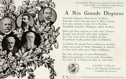 MILITARIA Patriotique - Poème D'André SORIAC : A Nos Grands Disparus - Heimat