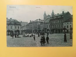 CARTOLINA POSTCARDS AUSTRIA OSTERREICH 1907 STERNBERG STADTPLATZ BOLLO IMPERATORE FRANCESCO GIUSEPPE OBLITERE' - Austria