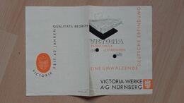 VICTORIA-WERKE A.-G.NURNBERG,bicycle - Gebührenstempel, Impoststempel