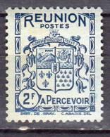 Reunion 1933 Taxe  Armoirie 2f N° T 24 Neuf* - Réunion (1852-1975)