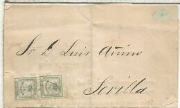 IMPRESOS CON MAT TREBOL FUENTE OBEJUNA CORDOBA A SEVILLA 1883 - 1875-1882 Royaume: Alphonse XII