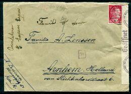 Deutsches Reich - Zensurbrief In Die Niederlande - Cartas