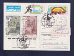Soviet Postal Stationary Posted Registered Moscow D-3 Olympic Games Moscow 1980 (G113-10) - Summer 1980: Moscow