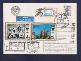 Soviet Postal Stationary Posted Registered Moscow 9 Olympic Games Moscow 1980 (G113-10) - Summer 1980: Moscow
