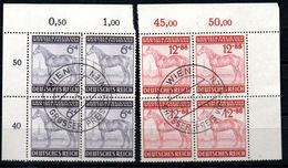 Deutsches Reich 857-858 Eckrand Gestempelt Wien, 15.8.43, Beschreibung Lesen - Oblitérés