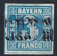 ALLEMAGNE Bavière 1861: Le Y&T 2 Obl. Linéaire 'München 65' - Bavaria