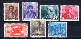 Romania / Rumänien  Michel #  509 - 15 ** - 1918-1948 Ferdinand, Carol II. & Mihai I.