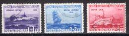 Romania / Rumänien  Michel #  519 - 21  Schiffe - 1918-1948 Ferdinand, Carol II. & Mihai I.