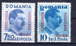 Romania / Rumänien  Michel #  522 - 23 * - 1918-1948 Ferdinand, Carol II. & Mihai I.