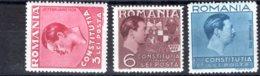 Romania / Rumänien  Michel #  549 - 51** - 1918-1948 Ferdinand, Carol II. & Mihai I.