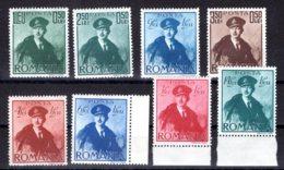 Romania / Rumänien  Michel #  617 - 24 ** - 1918-1948 Ferdinand, Charles II & Michael