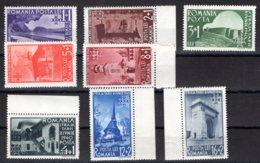 Romania / Rumänien  Michel #  631 - 38 ** - 1918-1948 Ferdinand, Carol II. & Mihai I.