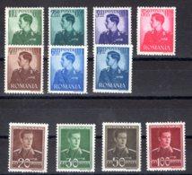 Romania / Rumänien  Michel #  662 - 78 ** - 1918-1948 Ferdinand, Carol II. & Mihai I.