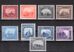 Romania / Rumänien  Michel #  734 - 42 ** - 1918-1948 Ferdinand, Carol II. & Mihai I.
