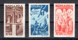 Romania / Rumänien  Michel #  760 - 62 ** - 1918-1948 Ferdinand, Carol II. & Mihai I.