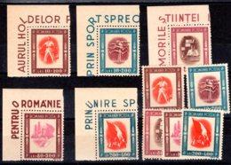 Romania / Rumänien  Michel #  993 - 977 **  Eckrand  2 Sätze - 1918-1948 Ferdinand, Carol II. & Mihai I.