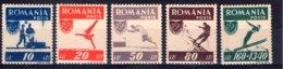 Romania / Rumänien  Michel #  1000 - 04 **    Abart # 1000 - Unused Stamps