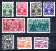 Romania / Rumänien  Michel #  Zwangzuschlagmarken **  Kleine Sammlung - 1918-1948 Ferdinand, Carol II. & Mihai I.